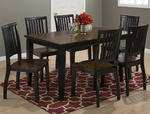 Braden Birch Rectangular 7 Piece Dining Set (Black)