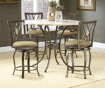 Brookside Counter Height Dining Set with Diamond Back Stools (Brown Powder Coat Finish)