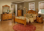 Bryant Bedroom Set (Light Chestnut Finish)