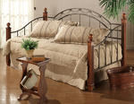Camelot Wood Post Daybed (Black & Gold Finish)