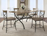 Charleston Counter Height Rectangle Wood Dining Table (Desert Tan Finish) - [4670CTBR]