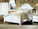 Cottage Collection Panel Bed (Snow White Finish)