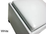 Contemporary Storage Ottoman with Tray (White) - [LC530OTLEWH] 2
