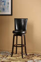 Copenhagen Swivel Bar Stool (Expresso & Black Finish)