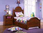 Cottage Collection Trundle Face Panel Bed (Cherry Finish)