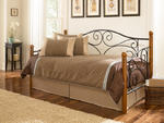 Doral Daybed (Matte Black & Walnut Finish)