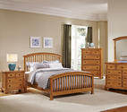 Forsyth Arched Bed (Medium Oak Finish)