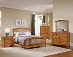Forsyth Arched Bedroom Set (Medium Oak Finish)