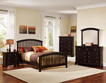 Forsyth Arched Bedroom Set (Merlot Finish)