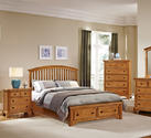 Forsyth Arched Storage Bed (Medium Oak Finish)
