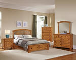 Forsyth Arched Storage Bedroom Set (Medium Oak Finish)