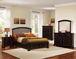 Forsyth Arched Storage Bedroom Set (Merlot Finish)