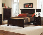 Forsyth Panel Bed (Merlot Finish)