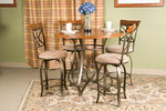 Hamilton Five Piece Counter Height Dining Set (Matte Pewter & Bronze)