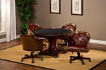Harding 5 Pieces Game Set (Rich Cherry & Brown Leather Finish)