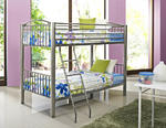 Heavy Metal Twin Over Twin Bunk Bed (Pewter)