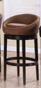 Igloo Swivel Counter Stool (Brown Microfiber)