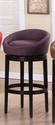Igloo Swivel Counter Stool (Eggplant Microfiber)