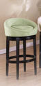 Igloo Swivel Counter Stool (Green Microfiber)