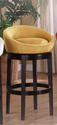 Igloo Swivel Counter Stool (Yellow Microfiber)