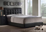 Lusso Bed (Black Faux Leather)