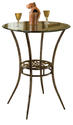 Marsala Bar Height Bistro Table  (Gray & Rust Highlights)