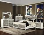 Monroe Storage Bedroom Set (Pearlized White)