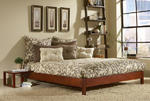 Murray Platform Bed (Mahogany Finish)