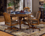 Nassau Game Table Set (Brown Finish)
