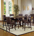 Nottingham Counter Height Dining Set (Dark Walnut Finish)