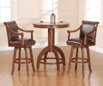 Palm Springs Bar Height Table Set (Medium Brown Cherry Finish)