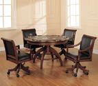 Palm Springs Game Table Set (Medium Brown Cherry Finish)