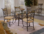 Pompei Dining Set (Black Gold & Slate Mosaic Finish)