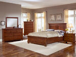 Reflections Mansion Panel Storage Bedroom Set (Medium Cherry Finish)