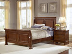 Reflections Sleigh Bed (Medium Cherry Finish)