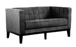 Roxbury Tufted Loveseat (Charcoal)
