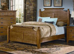 Timber Mill Broomhandle Bed (Oak Finish)