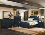 Timber Mill Broomhandle Bedroom Set (Charcoal Finish)