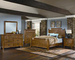 Timber Mill Broomhandle Bedroom Set (Oak Finish)