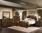 Timber Mill Broomhandle Bedroom Set (Pine Finish)