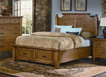 Timber Mill Broomhandle Storage Bed (Oak Finish)
