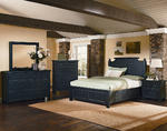 Timber Mill Broomhandle Storage Bedroom Set (Charcoal Finish)