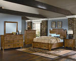 Timber Mill Broomhandle Storage Bedroom Set (Oak Finish)