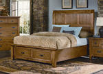 Timber Mill Storage Bed (Oak Finish)