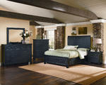 Timber Mill Storage Bedroom Set (Charcoal Finish)