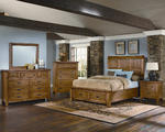 Timber Mill Storage Bedroom Set (Oak Finish)