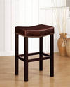 Tudor Backless Counter Stool (Antique Brown Leather)