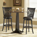 Van Draus Swivel Counter Stool and Flare Leg (Black Finish)