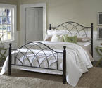 Vista Bed (Silver & Espresso Finish)