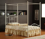 Westfield Metal Canopy Bed (Off White Finish)